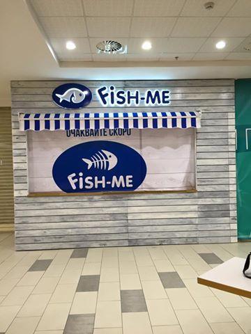 Обемни букви с контражурно осветление за Fish me