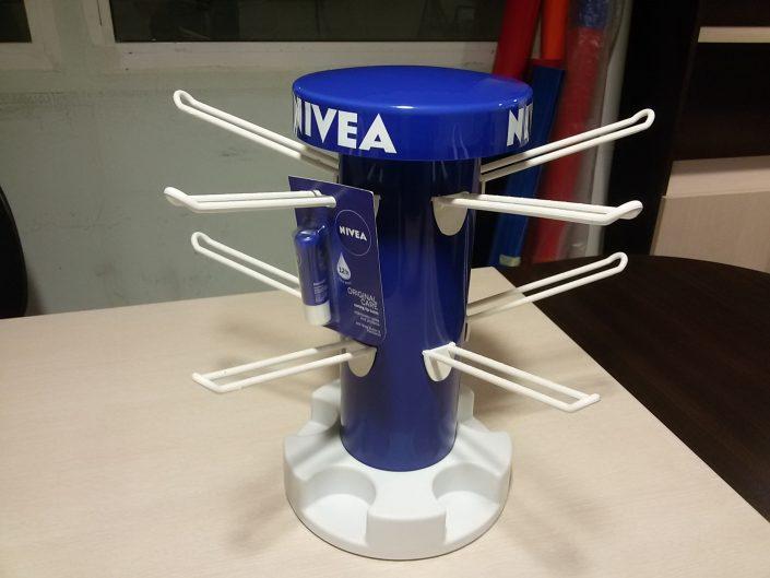Въртящ се настолен стелаж за NIVEA