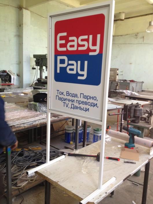 Тротоарна стойка - стоп реклама за Easy Pay