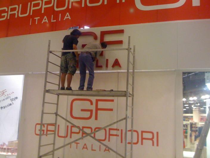 Несветещи обемни букви за магазини Gruppofiori Italia