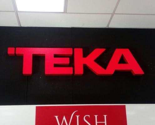 Изработка на светещи обемни букви (лого) за ТЕКА България