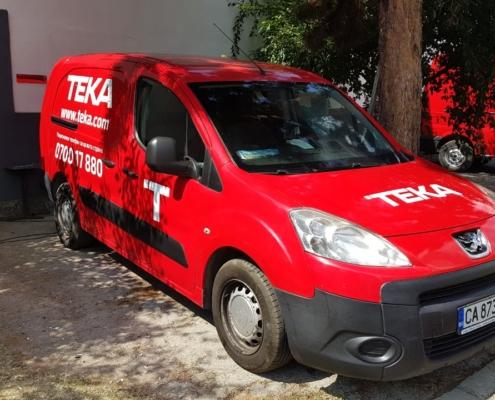 Ребранд с новото лого на автомобилите на Тека България